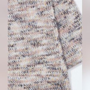 NWT LOFT Shimmer Pink & Gray Marled Infinity Scarf